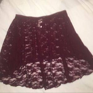 Adult lace dance skirt